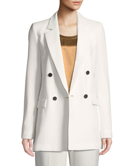 Britton Finesse Crepe Double-Breasted Jacket
