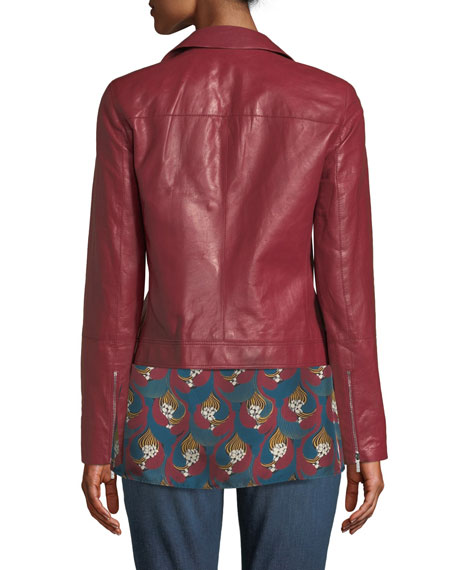 Mary-Kate Weightless Glazed Lambskin Leather Jacket