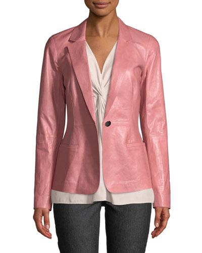Nikala Glazed Lambskin Jacket