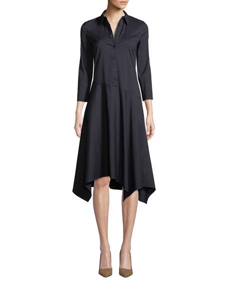 Rizzo Stretch Cotton Midi Shirt Dress