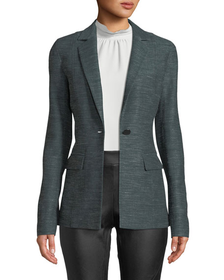 Marris One-Button Mayfair Weave Jacket