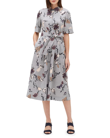 Lafayette 148 New York Eleni Artisan Bouquet Short-Sleeve