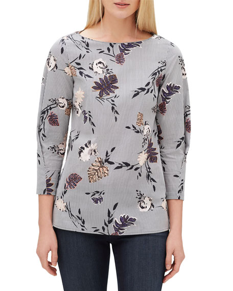 Lafayette 148 New York Caddie Artisan Bouquet 3/4-Sleeve