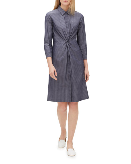 Lafayette 148 New York Federica 3/4-Sleeve Button-Front