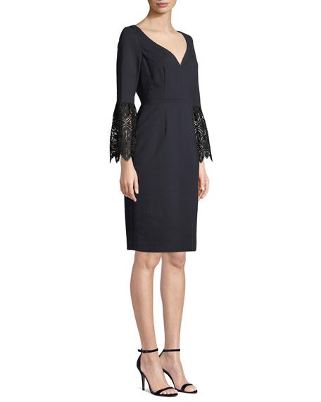 d6a283b6c13 Elie Tahari Danielle 3 4-Sleeve Sheath Dress