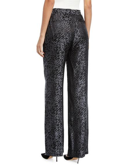 Arwen Wide-Leg Leopard-Print Trousers
