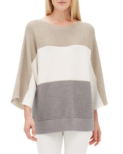 Oversized Cotton Cashmere Dolman Pullover