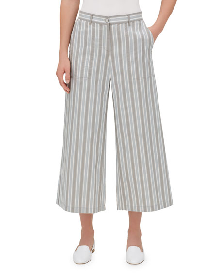Fulton Elixir Striped Cropped Wide-Leg Pants
