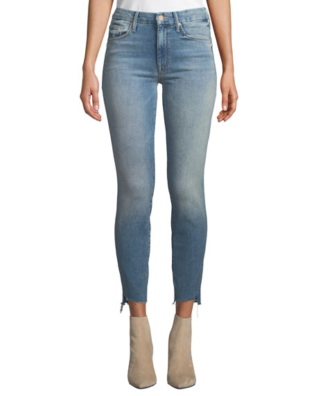 Mother THE LOOKER ANKLE STEP FRAY SKINNY JEANS, TRUTH OR DARE