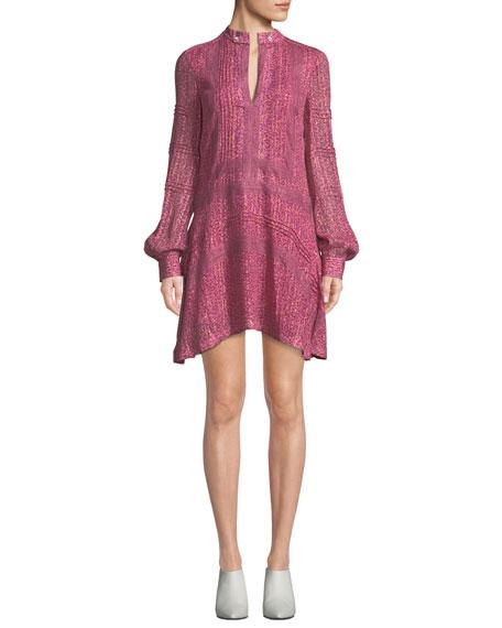 4d4fdff282b1a Derek Lam 10 Crosby Floral-Print Mini-Length Shift Dress