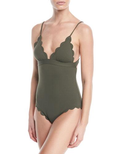 Santa Clara Scalloped One-Piece Maillot Swimsuit