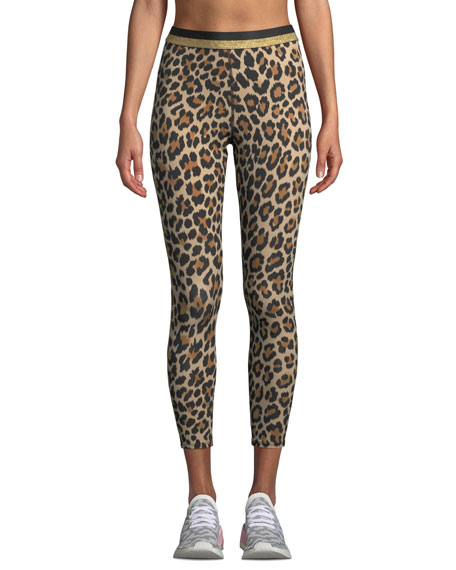 1654163d13df kate spade new york leopard-print cropped leggings with metallic stripe