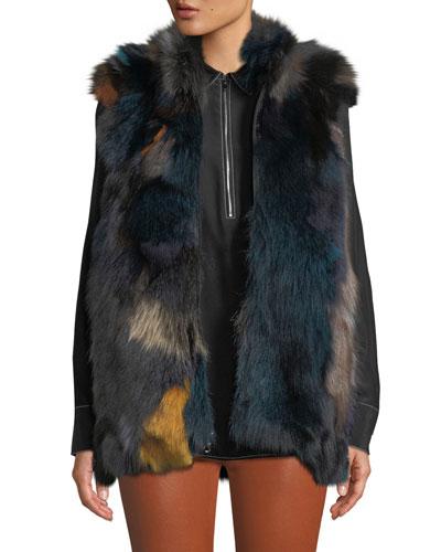 Multicolored Fur Vest
