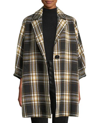 Lance Seamed Oversized Coat