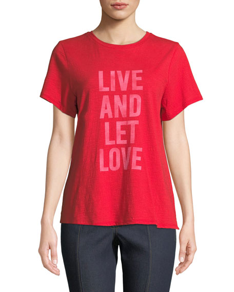 Live And Let Love Graphic Tee