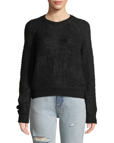 Brooke Wool-Blend Crewneck Pullover Sweater