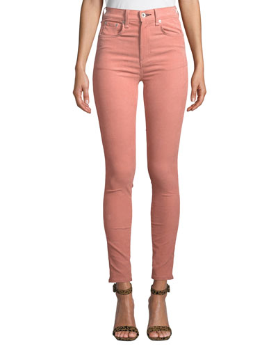 High-Rise Corduroy Ankle Skinny Jeans