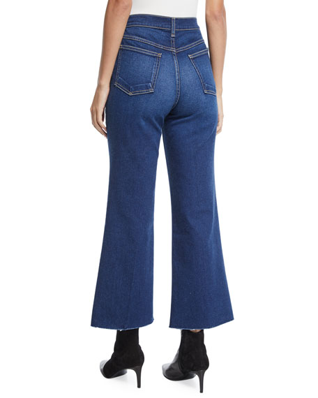 Justine High-Rise Cropped Flare-Leg Jeans