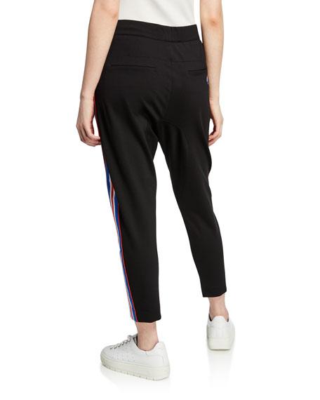 Court Run Ankle-Length Ponte Pants w/ Side Stripes