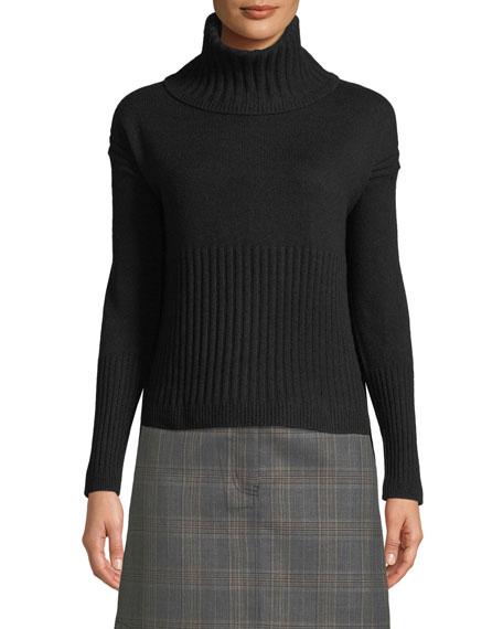 Derek Lam 10 Crosby Long-Sleeve Cashmere Turtleneck Sweater