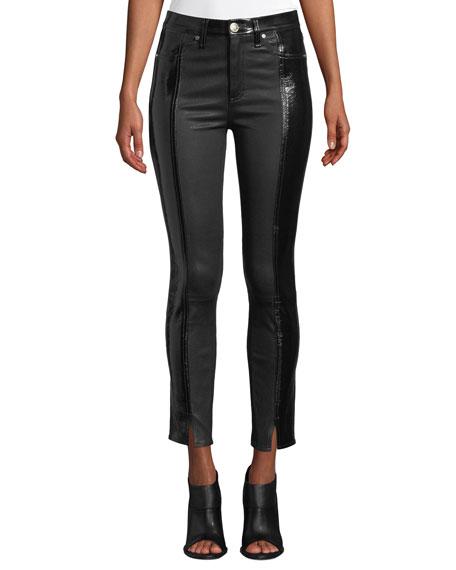rag & bone/JEAN Evelyn Two-Tone Leather Skinny Pants