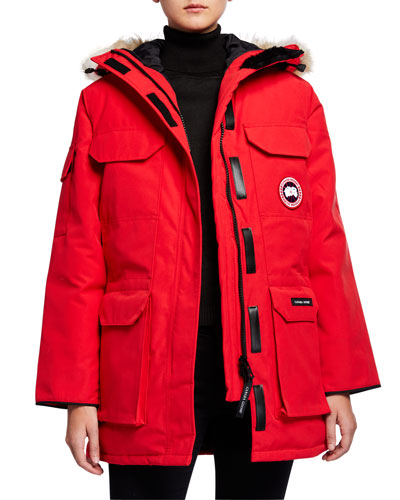Expedition Multi-Pocket Parka Coat w/ Fur Hood