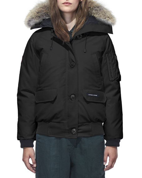 Canada Goose Chilliwack Down Bomber Jacket w/ Fur