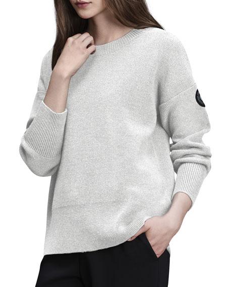 Aleza Wool Pullover Sweater, Black