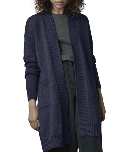 Cortina Long Merino Wool Cardigan