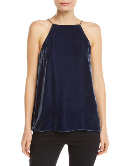 Cami NYC The Charlie Velvet Lace-Up Cami