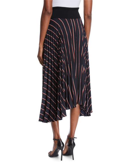 Henry Striped Pleated Midi Skirt