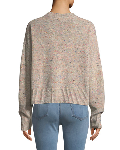 Emmeline Speckled Wool-Cashmere Sweater