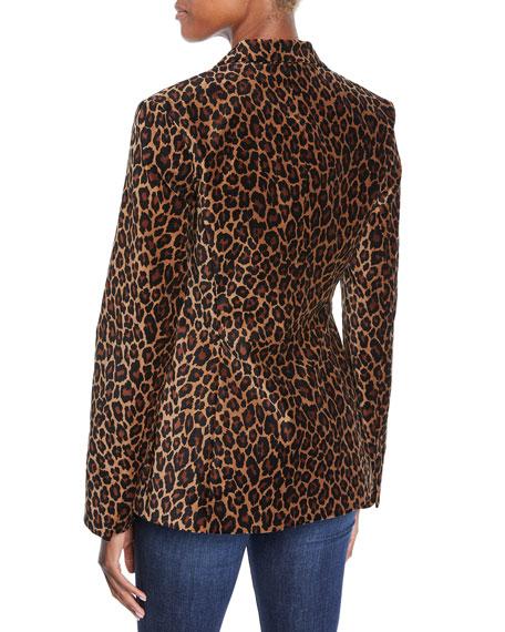 Mercer Leopard-Print Tailored Jacket