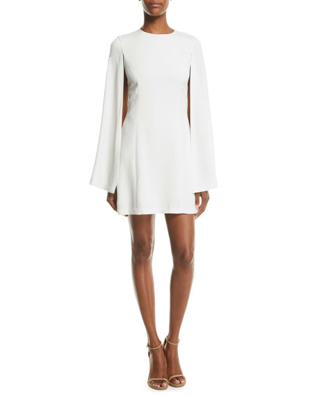 Erin Viscose-Blend Cape Dress