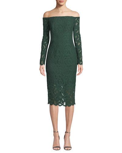 Coco Off-the-Shoulder Italian Lace Dress