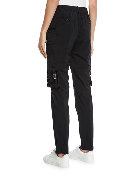 Redvalentino Nylon Straight Leg Cargo Pants