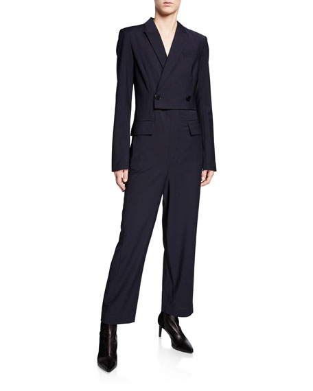 Tablier Plainweave Blazer Jumpsuit
