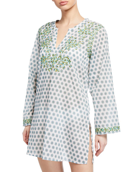 Azalea Embroidered Long-Sleeve Tunic