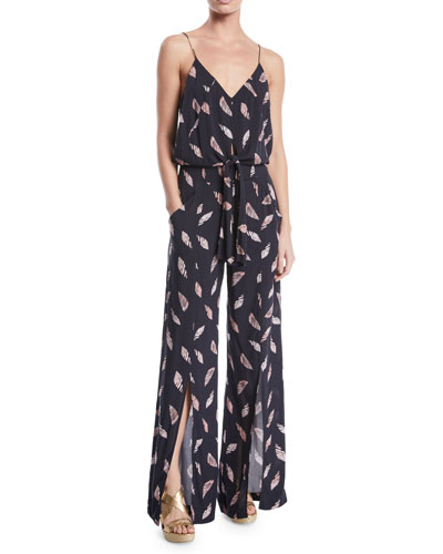 Nora Printed Wide-Leg Coverup Jumpsuit