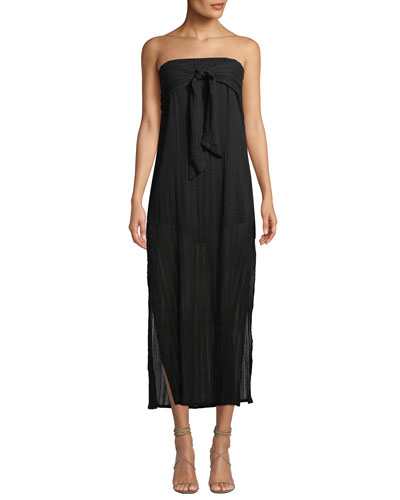 Tess Strapless Tie-Front Coverup Dress