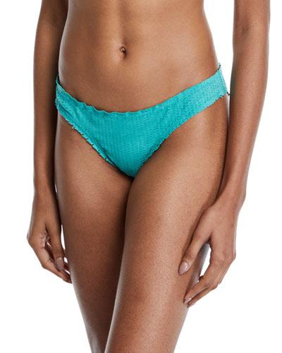 Basic Hipster Swim Bikini Bottom  Emerald Scales