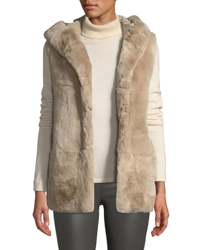 Hooded Fur Vest