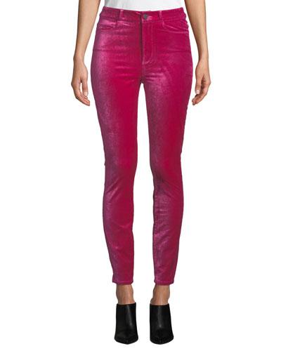 Margot Velvet Ankle Skinny Jeans