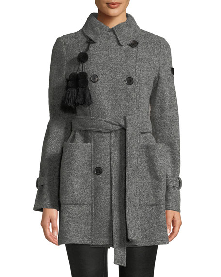 Peuterey NAHIOSSI WOOL COAT W/ QUILTED BACK