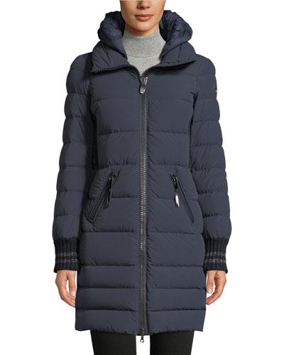 Skilbrum Fitted Long Puffer Coat