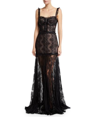 Kieran Lace Bustier Cocktail Dress