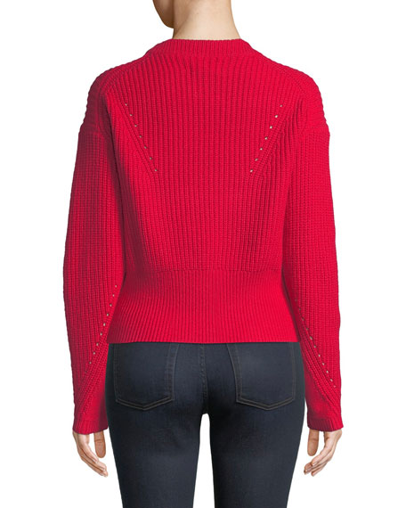 Eloisa Wool-Blend Ribbed Sweater