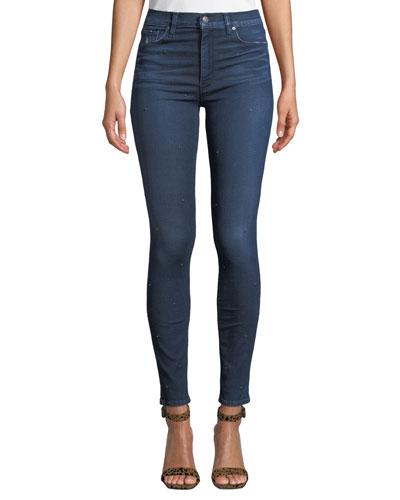 Barbara High-Waist Super Skinny Ankle Jeans