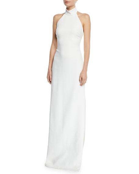 5540d75b9b22 Badgley Mischka Collection Meghan Halter Column Gown