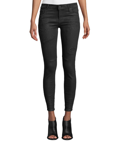 Prince Distressed Ankle Skinny Jeans